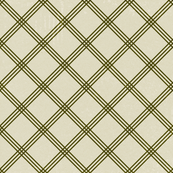 Distressed Ivory Green Argyle Stripes