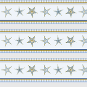 Starfish stripes - pelican gray