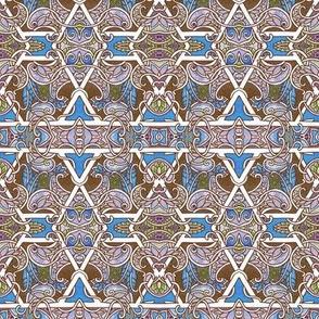 Pas Des Deux for Hexagon and Paisley