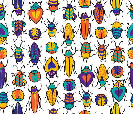 BEETLEMANIAAAH fabric by stephloren on Spoonflower - custom fabric