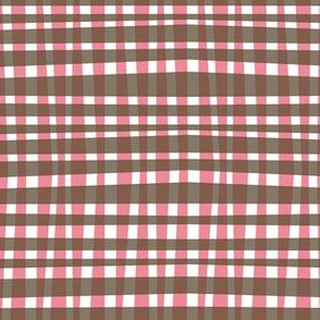 Chocolate Bubblegum Gingham