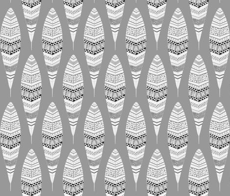 Dandelion Feathers - Grey fabric by natitys on Spoonflower - custom fabric