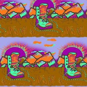 HIKING SHOES SUNRISE BLUEBERRIES PAPAYA Boots