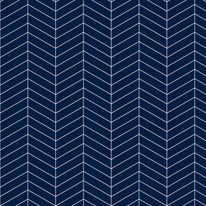 Herringbone // Navy