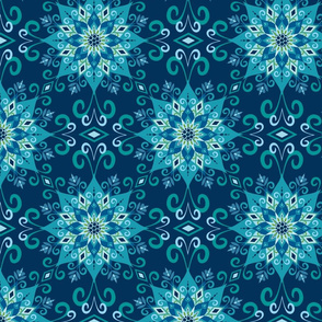 Blooming Mandala-Blue
