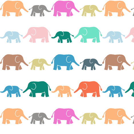 elephants fabric by katherinecodega on Spoonflower - custom fabric