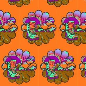 HIKING SHOES SUNRISE BLUEBERRIES PAPAYA Flowers