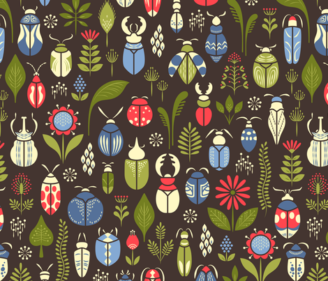 just like beetles fabric by catalinakim on Spoonflower - custom fabric