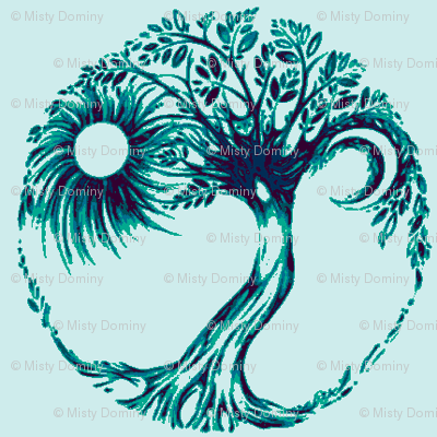 The Giving Tree Aqua/indigo