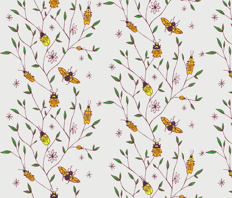 beetles fabric by katesbeads on Spoonflower - custom fabric