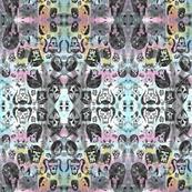 Skull collage by Roseanne Jones