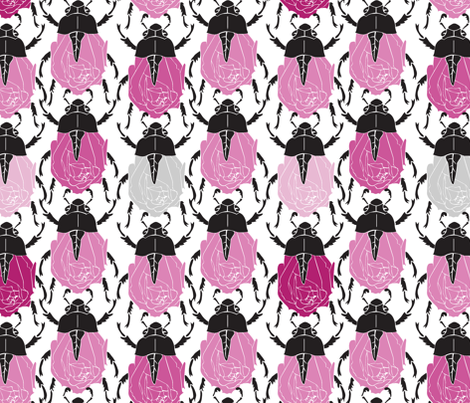 Rose Bugs fabric by dianne_annelli on Spoonflower - custom fabric