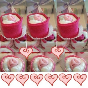 girly baby cupcake hearts
