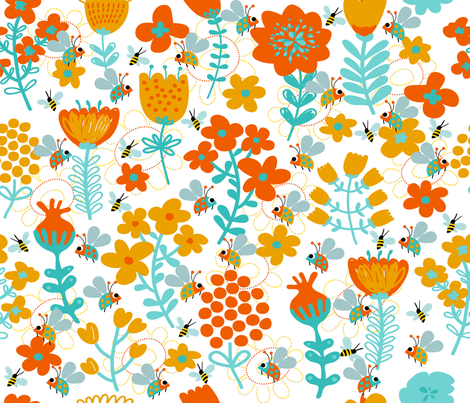 MISS LADYBUG'S GARDEN fabric by deeniespoonflower on Spoonflower - custom fabric