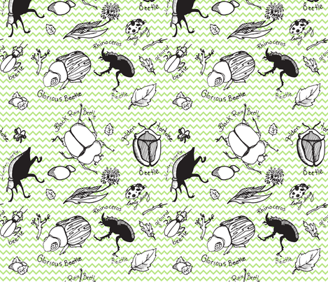 Beetle Bugs fabric by samantha_maclean on Spoonflower - custom fabric