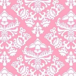 Pink Spring Bulb Damask