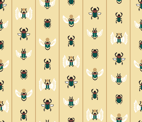 Scarabs_Bring_The_Sun fabric by aalk on Spoonflower - custom fabric