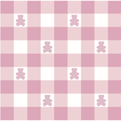 Teddy pink white gingham