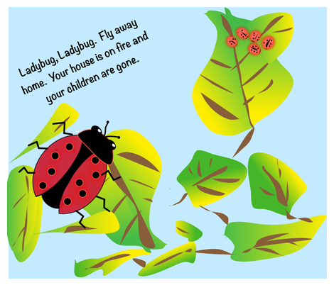 Ladybug, Ladybug, fly away home fabric by gargoylesentry on Spoonflower - custom fabric
