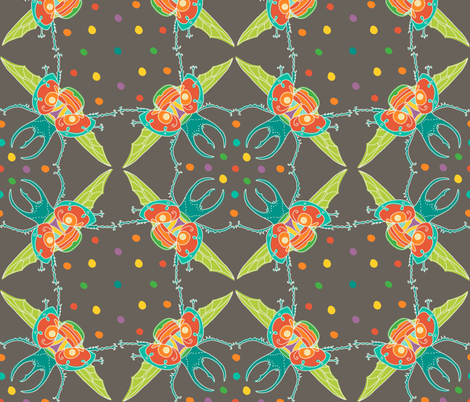fiesta beetle fabric by aplcreations on Spoonflower - custom fabric