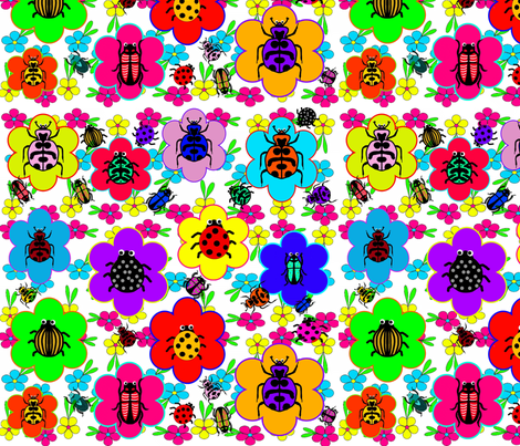Beetle Mania fabric by charldia on Spoonflower - custom fabric