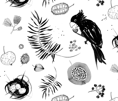 I live in a rainforest fabric by nouveau_bohemian on Spoonflower - custom fabric