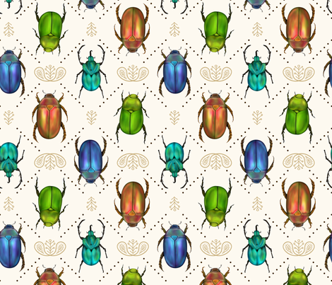Beetle Bling fabric by samalah on Spoonflower - custom fabric