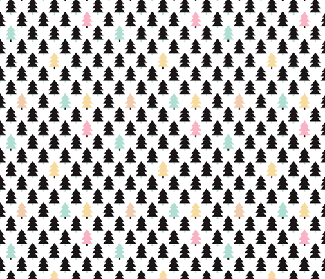 Lovely little scandinavian christmas tree S fabric by littlesmilemakers on Spoonflower - custom fabric