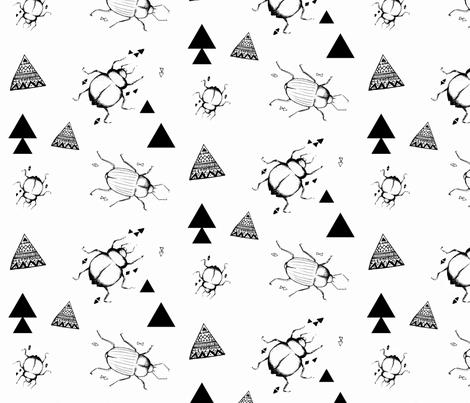 geo beetle fabric by luckywe on Spoonflower - custom fabric