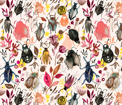 SHANNON_NEWLN_BEETLES2_2014 fabric by shannonnewlin on Spoonflower - custom fabric