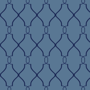 Laura Trellis in French Blue and Navy