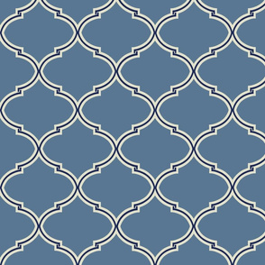 Lily Trellis in French Blue and Navy