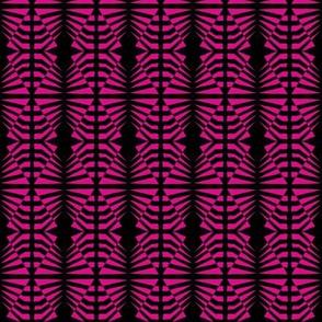 Zebras Pink Black