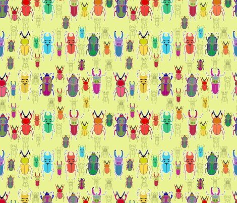 Beetle Brights fabric by rubydoor on Spoonflower - custom fabric