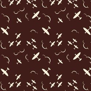 1940s inspired Spitfire aircrafts brown