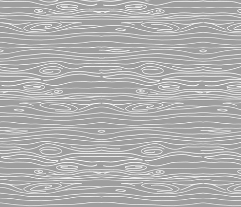 Wonky Woodgrain - Grey - Horizontal