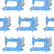 Sew Geek Sewing Machines in Blue