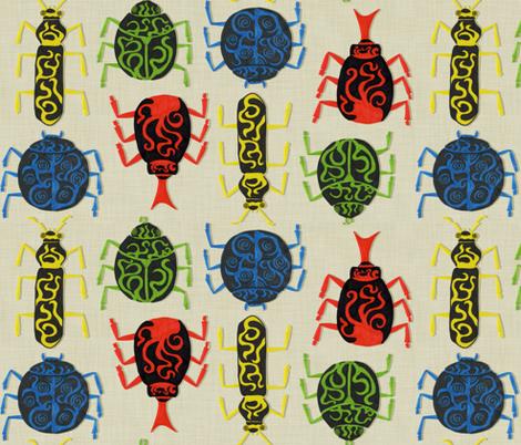 Beetlemania fabric by izbee on Spoonflower - custom fabric
