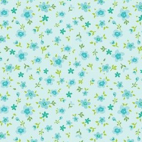 Turquoise Baby Flowers