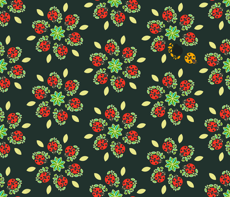 Lady spring fabric by sansan on Spoonflower - custom fabric