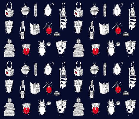 Beetle Bookworms fabric by lara_lockwood on Spoonflower - custom fabric