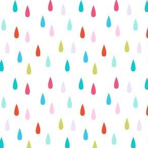 rain on white