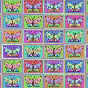 Butterflies - Multicolor - Rivet Panels