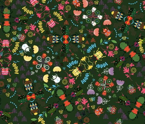 beetles fabric by misslin on Spoonflower - custom fabric