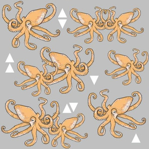 Octopus Meets Triangles - Grey