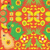 hedgehog paisley