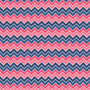 Red and blue chevron