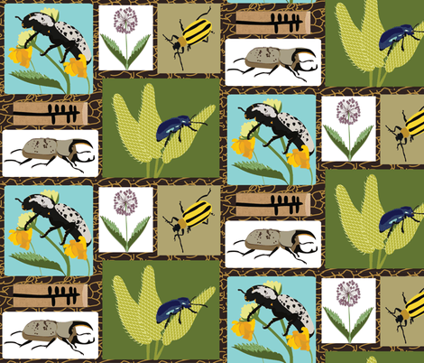 Rocky Mountain Beetles fabric by vanillabeandesigns on Spoonflower - custom fabric