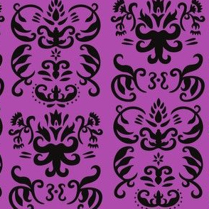 Hand-drawn French Damask