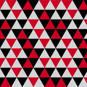 Triangles Red Black Grey